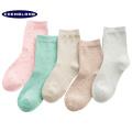2018 el más nuevo diseño de tubo de rayas muslo de algodón de alta calidad al por mayor calcetines mujeres