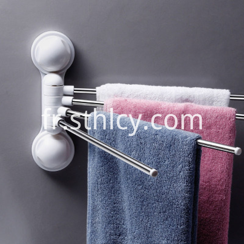 Rotating Suction Cup Towel Rack