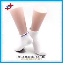 Ladies polyester plain white ankle socks