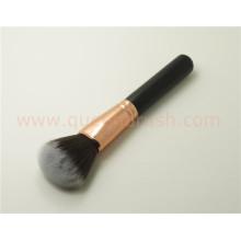Rose Gold Face Escova de madeira Loose Powder Blush Brush