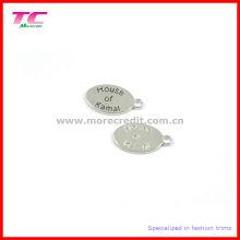 Металлические овальные бирки для ювелирных изделий