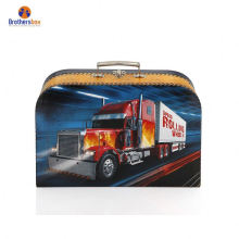 Hot custom kids paper cardboard high quality suitcase box with handle