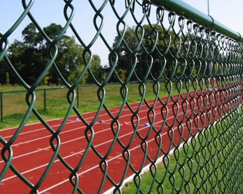 installed pvc chain link fence
