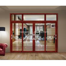 Modernes Design-Doppelverglasung Lowes Glass Interior Aluminium Schiebetür