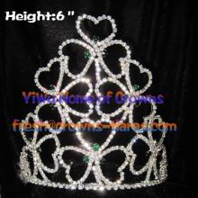 Coronas de trébol de cristal por mayor