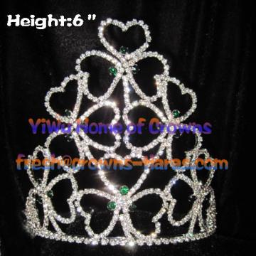 Trevo de cristal atacado coroas