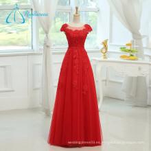 Lace Appliques Sashes Sequined Beading vestido de noche de vestidos