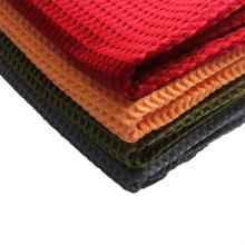 Custom microfiber waffle towel to wipe golf balls