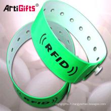 Usine vente directe produits de qualité personnalisés cadeau article une fois utiliser des bracelets festival