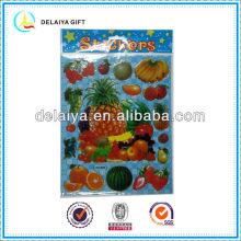 kids cartoon fruit PVC sticker for kids