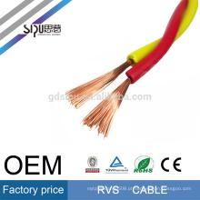 SIPU flexível 450/750 V PVC torcido elétrico 0.5mm quadrado rvv fio elétrico rv cabo