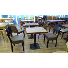 Table en bois et chaise de conception italienne de meubles de restaurant pour l'hôtel