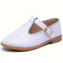 Hot sale Spring Autumn chidlren leather shoes girls princess flat shoes