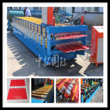 Lembaran Beralur dan Trapezoidal Double Layer Jubin Membuat Roll Forming Machine