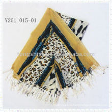 мода животных печати шарф пашмины