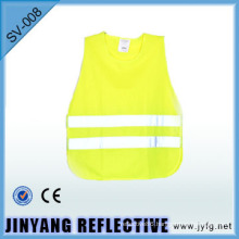high visibility Low-elastic yarn reflective roadway safety vest