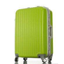 High Quality PC Hard Shell Aluminum Suitcase Trolley Travel Stripe Luggage