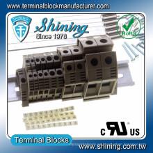 TF-10 Euro Tipo 600V 53A Abrazadera de tornillo 10mm Conector de cable DIN