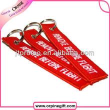 Porte-clés courts faits sur commande de broderie de polyester de lanière