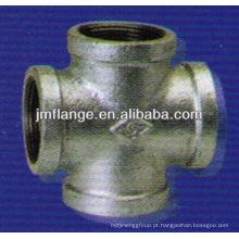 Aço inoxidável de alta pressão cruz roscada