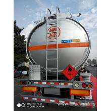 46CBM Tri-axle Alu. Alloy Fuel Tank Semi-Trailer