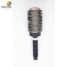 Nano Ceramic Ionic Vented Round Hair Brush with Natural Boar Bristle for Women