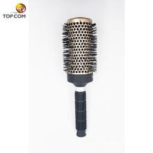 Escova de cabelo redonda exalada iônica cerâmica Nano com as cerdas naturais do varrão para mulheres
