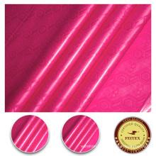 Tissu de coton 100% organique pour le style de Brocade de Bazin Shadda de vêtements de femmes africaines