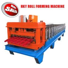 Hky PLC Automatische farbige Stahl verglaste Dachdecker Fliesen Roll Umformmaschine