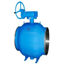 in stock wholesale ball valve handles round worm gear trunnion ball valve