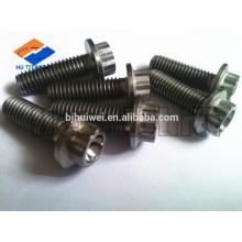 high quality titanium 12 point flange screw/bolt