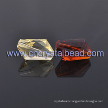 Wholesale Large Colorful Crystal Machine Cut Glass Beads For Jewelry findings in bulk