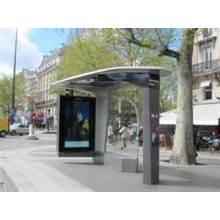 Moderne einfache Bus-Kiosk mit LED Schrank