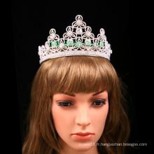 Customisé Tiara strass Flower Design Crown pour le mariage