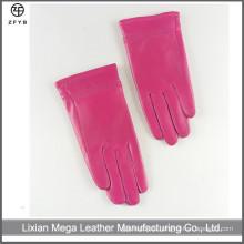 Kinder Mädchen rosa Farbe Winter Leder Handschuhe in China