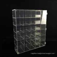 Wholesale Divided Ties Jewelry Clear Acrylic Display Showcase with Lock