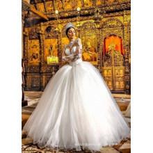Long Sleeve Ballgown Bridal Wedding Dress Wedding Gown (BH006)