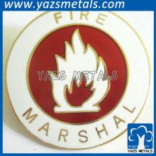 Insignias redondas de esmalte con imagen de fuego para el honor del mariscal