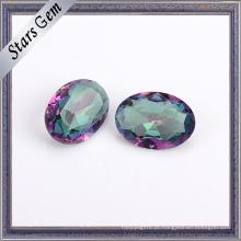 Oval 4X6mm Clear Rainbow Cor Cristal De Vidro Gemstone