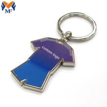 Подарочный металлический брелок для ключей из футбольного джерси с индивидуальным логотипом