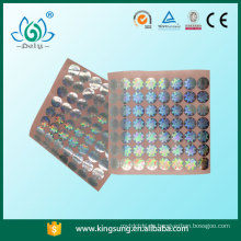 Zertifikat-Hologramm-Aufkleber, transparente Hologramm-Aufkleber
