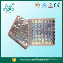 голограмма сертификат наклейки , прозрачные голограммы наклейки