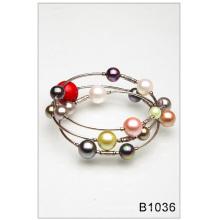 Красочный стеклянный жемчуг браслет (B1036)