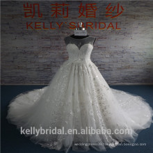 Wholesale flower lace wedding dress 2017