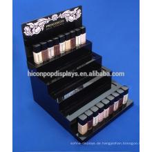 Kosmetik Store Werbung Personalisierte Logo Counter Top Acryl 5-Schritt Nail Polish Display Stand