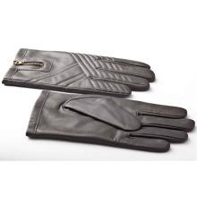 Мужская мода молния кожа мотоцикл вождения перчатки (YKY5184-2)