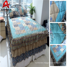 100% polyester disperse printed patchwork quilt and cheap patchwork quilt match with pillow