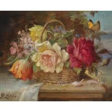 Pintura al óleo hecha a mano de la nueva flor del diseño