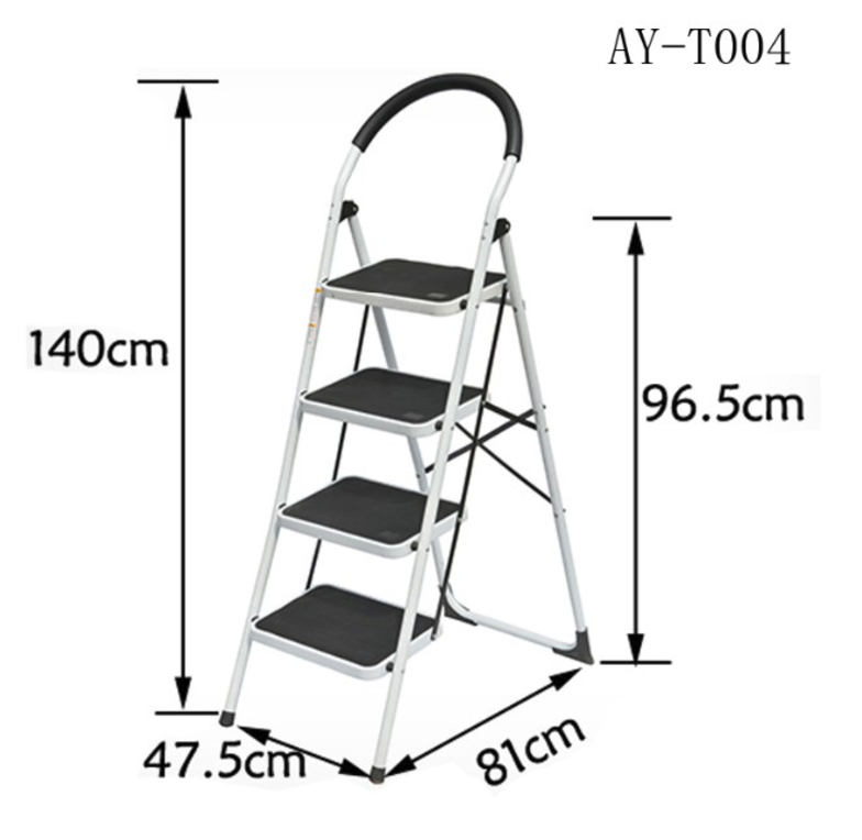 4 steps iron ladder