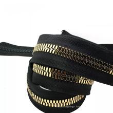 Guangzhou Close-End 10# Black Color Brand Zipper Long Chain Custom Zipper Pulls Corn Big Teeth Plastic Resin Zipper